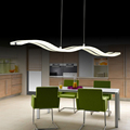Creative modern wave LED pendant lamp S 38W adjustable hanging lamp dining room restaurant living room