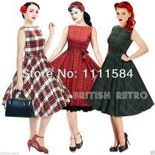 Bestdress free shipping  Lindy Bop Rockabilly Kleid 1950er Jahre Grace. Vintage Pinup Swing Tea Dress. 2014 bestdress(China (Mainland))