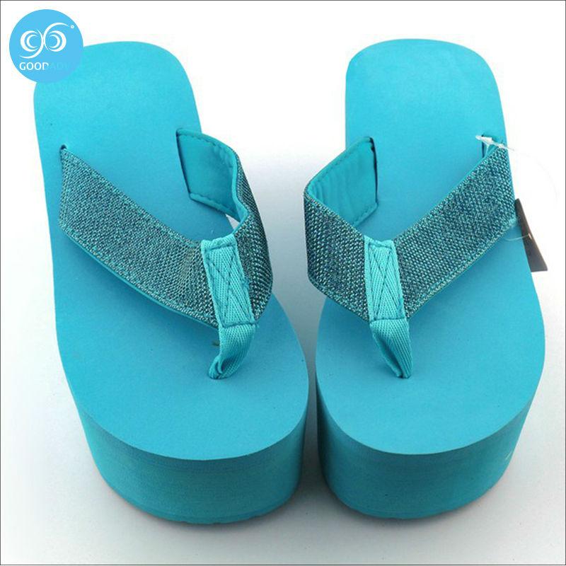 promotion Summer Women's Platform slippers high heel flip flops shoes slippers high heels leisure women shoes(China (Mainland))