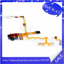 Free shipping 20pcs/lot audio jack power on off volume silent mute switch flex cable for iphone 3gs 3g(China (Mainland))