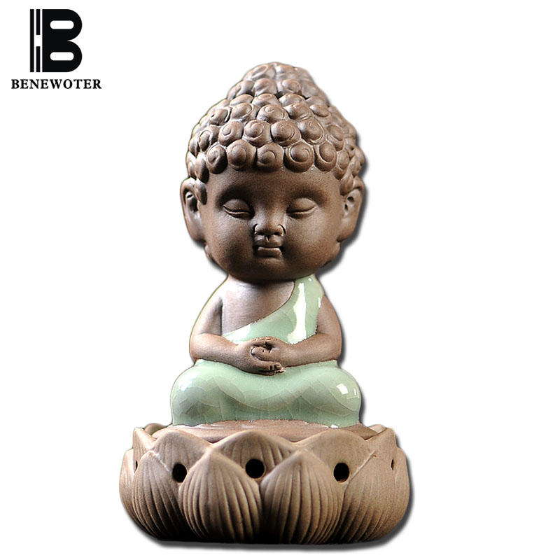 BENEWOTER Longquan Ceramic Porcelain Tathagata Buddha Coil Incense Burner Aroma Cone Incense Censer Stove Plate Smoke Furnace(China (Mainland))