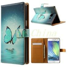 Волк и луна шаблон кожаный бумажник чехол для Samsung Galaxy A5 A500 SM-A500F с подставкой 1 шт. бесплатная доставка 001