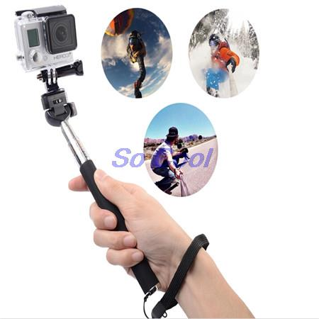 Extendable Selfie Stick Universal Pau De Self Monopod Perche Selfies Tripod For Gopro Xiaomi Yi Sj4000