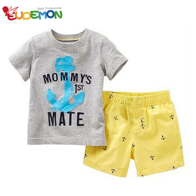 [Eudemon] Summer kids clothes Shirt and kids pants Boy Clothing Set Fashion children clothing Casual Style toddler boy clothes(China (Mainland))