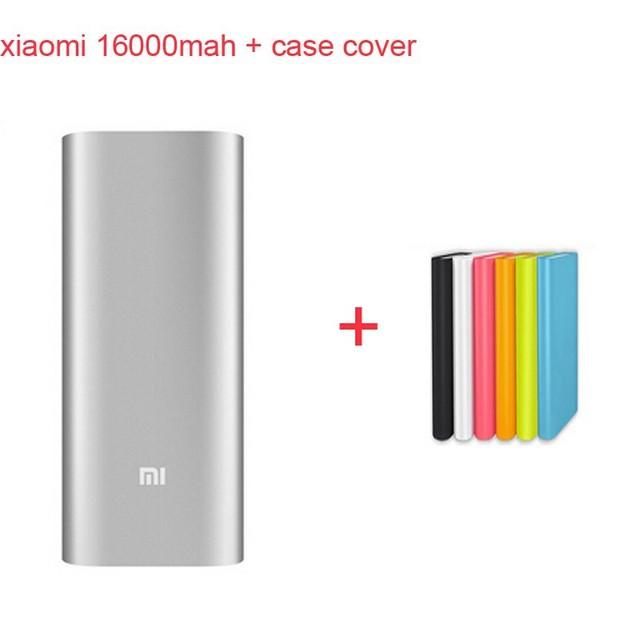 Оригинал xiaomi зарядное устройство xiaomi 16000 мАч внешний аккумулятор xiaomi 16000 внешнее зарядное устройство powerbank и чехол крышка