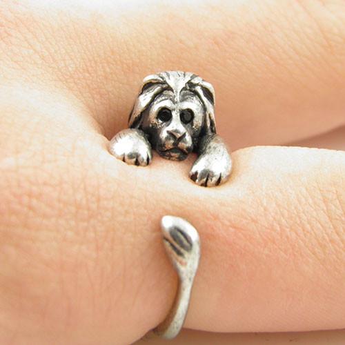 Lion Animal Wrap Ring - Silver