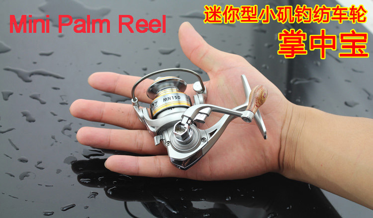 Mini in Palm 6 Bearings Spinning Reel 5.2:1 Ratio Nylon 66 + Glass Fiber Material Mini Ice Fishing, Rock & Lure Fishing Tackle(China (Mainland))