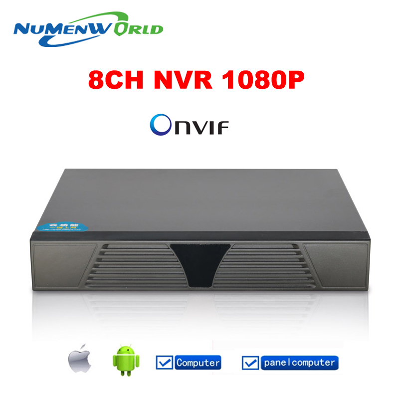 XM 20 Languages 8CH Black Onvif 1080P Network Video Recorder Portable Full HD Super NVR for IP Camera with HDMI and VGA Output(China (Mainland))