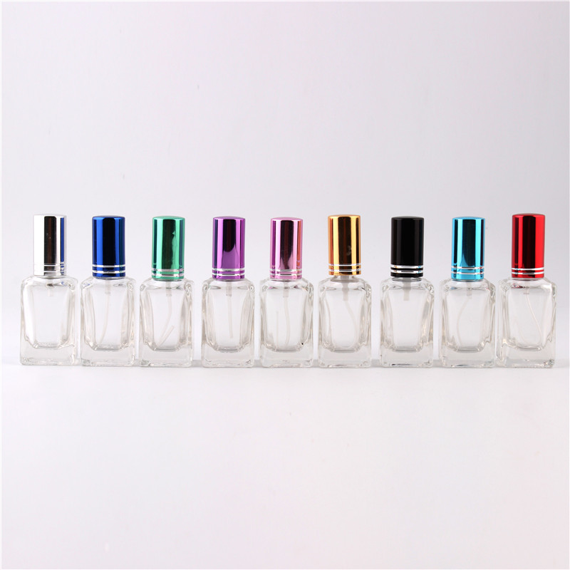 9 Colors 1Pieces 13 ML Refillable Perfume Bottle Mini Small Perfume Bottles Transparent Glass Empty Perfume Case Free Shipping(China (Mainland))