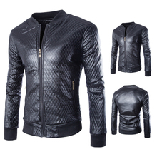 Mandarin Collar Men Jacket Leather Motorcycle Suede New 2015 Arrival Slim Fit Fashion Leather jacket Men(China (Mainland))