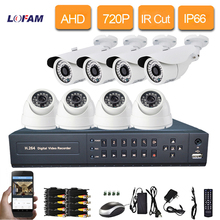 Buy LOFAM 8channel HDMI 1080P recorder dvr system 8pcs AHD 1Mp 1500tvl outdoor security camera system cctv dvr kit 8ch 1080N DVR for $203.93 in AliExpress store