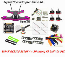 DIY Sigan210 FPV mini drone frame kit EMAX RS2205 + littlebee 20A ESC 2-4S + SP racing F3 built-in OSD (ACRO / DELUXE) + camera