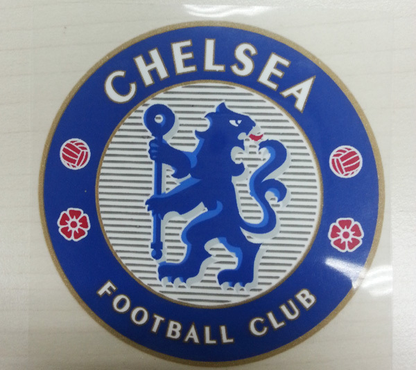 High Quality Rubber Chelsea Club team Patches Home Silicon Soccer Patch Soccer Badges Wholesale(China (Mainland))
