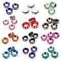 free shipping 15pcs 58 233 rhinestone rondelle shamballa beads aluminium crytstal beads fit european jewelry