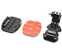 Go pro Accessories J Hook Buckle Holder+3M Adhesive Sticker+Flat Surface Mount Adapter for GoPro Hero 4 3+ 2 1 SJ4000  GP57