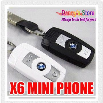 X6 Mini Car Key Cell Phone Cute Mobile Phone X6 Kids Student Cell Phone With Bluetooth FM MP3 Radio mini phone(China (Mainland))