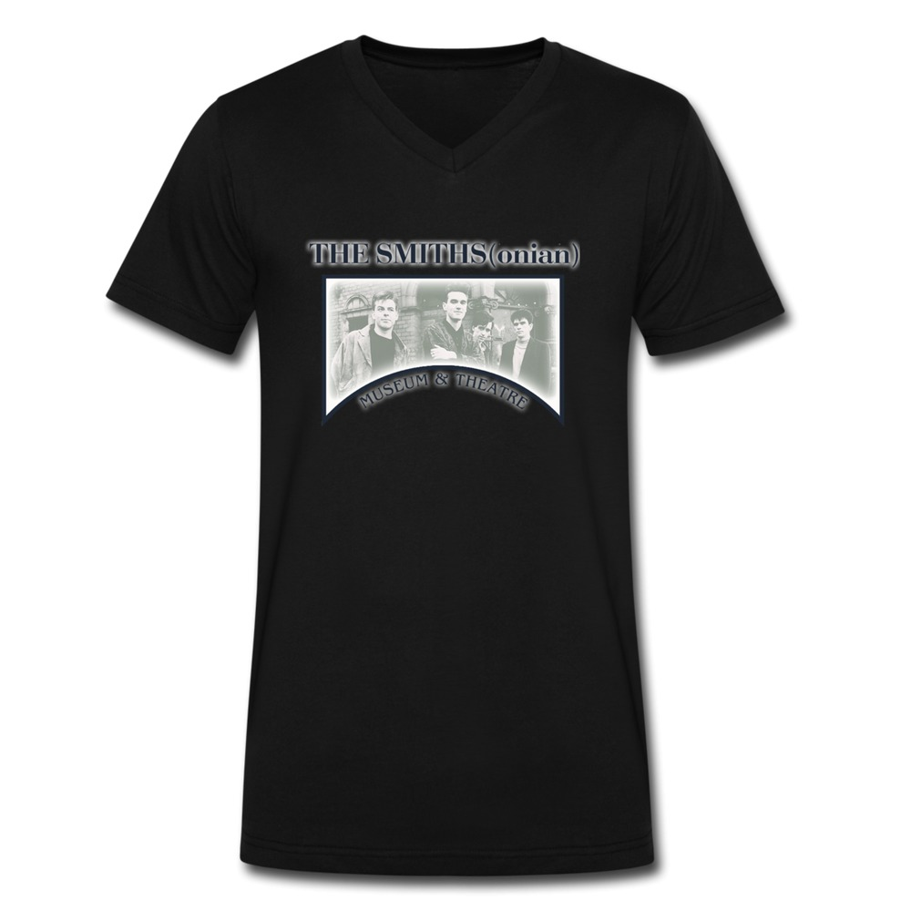 100 cotton v neck the smiths t shirt for man 39 s for sale for Custom cotton t shirts