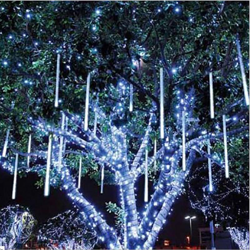 80cm 8 tubes Rain Drop/Icicle Snow Fall String LED Christmas tree decoration Cascading Meteor Light Decoration(China (Mainland))