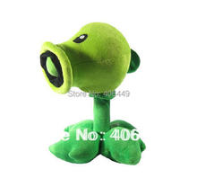 30CM Plants vs zombies Pea shooter High quality PP cotton PVZ Peashooter Plush toys Gifts for kid(China (Mainland))