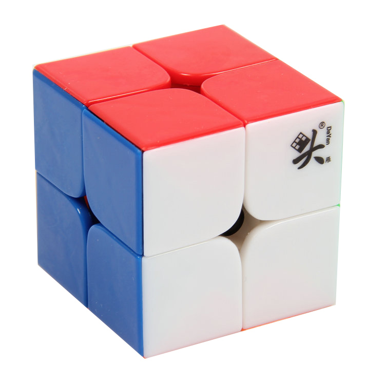 DaYan Zhanchi 2x2 Stickerless Plastic Cube Solid Color Puzzles 50mm(China (Mainland))