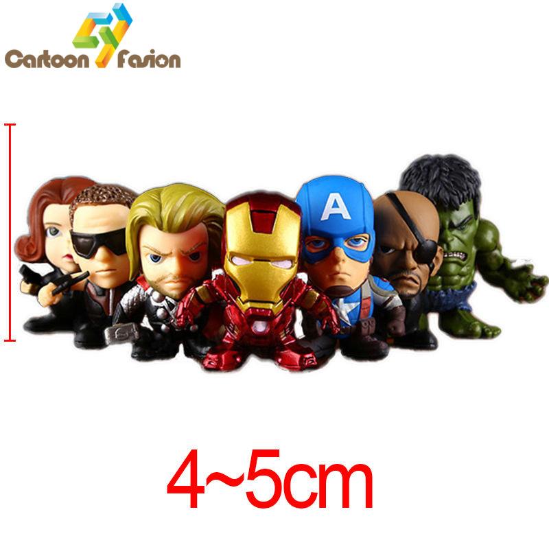 Marvel Avengers 2 Age of Ultron Hulk Black Widow Vision Ultron Iron Man Captain America Action Figures Model Toys 7pcs/lot(China (Mainland))
