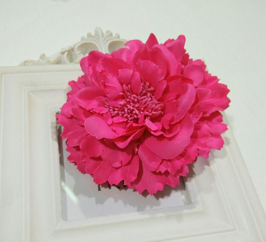 Fabric Flower Hair Clips,Flower Corsage Brooch Pins,Women Flower Headwear Wedding Party Gift(China (Mainland))