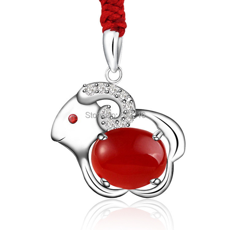 2015 New 925 Fashion Jewelry Lovely & Cute Sheep Animal Pendant Necklace For Women Young Lady Girls Gifts(China (Mainland))