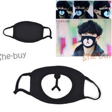 New Unisex Korean Style Kpop Black Bear Cycling Anti-Dust Cotton Mouth Mask Face Respirator(China (Mainland))