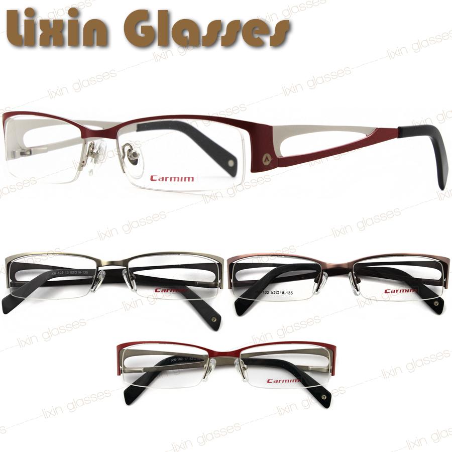 2015 New Design Wholesale Modern Stainless Steel Name Brand Carmim  Men/women Eyewear Glasses Optical Eyeglasses Frame AW102(China (Mainland))