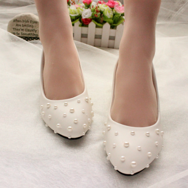 women shoes wedding beading bridesmaid performance pearl white high heels bridal