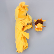 2016 New Arrival 2Pcs Lively Dragon Soft Animal Finger Puppet Baby Infant Kid Toy Plush Toys For Your Cute Baby(China (Mainland))
