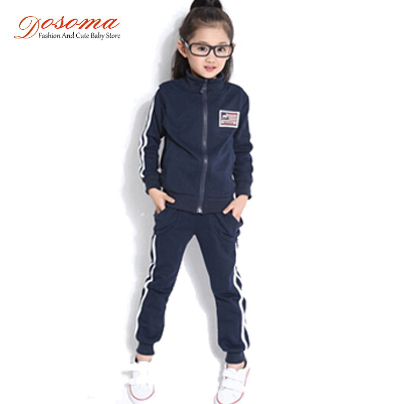 Children's sport suit 2015 new spring autumn boys girls sport set cotton fashion leisure kids clothing ses for 4-13 ages clothes(China (Mainland))