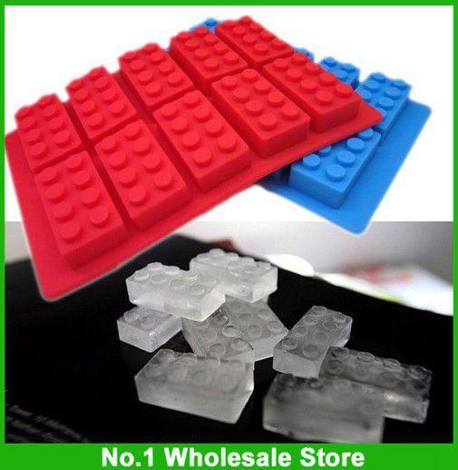 Free Shipping Via FedEx FDA LFGB Ice Mold Silicone Ice Cube Tray Brick Block, 200pcs per lot