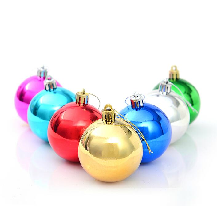 Colorful Xmas Tree Decorations Christmas Ornaments 7cm 8cm 10cm Xmas Balls 6 pcs/lot,Christmas Bauble Tree Decorations for Hotel(China (Mainland))