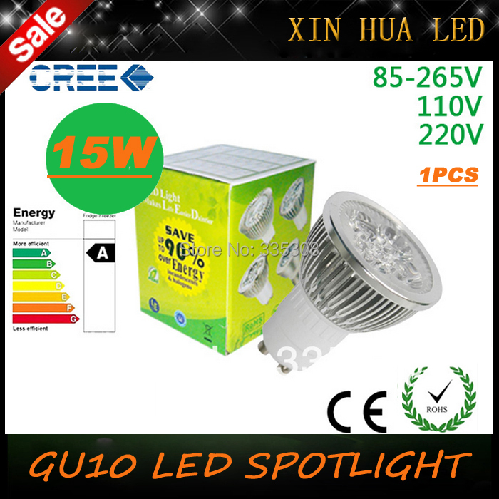 HQ Factory Sale LED Bulb GU10 15w 5*3W Warm White 85V~265V 110V 220V Dimmable Light Spotlight Lamps Bulbs - Xin Hua Electrical Store store