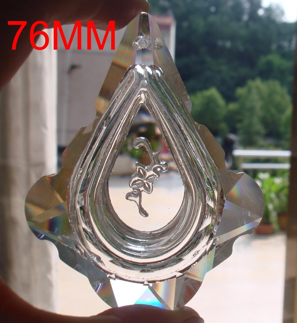 500pcs/lot 76 mm Ruyi shape crystal chandelier parts crystal chandelier trimming pendant and hanging beads free shipping(China (Mainland))