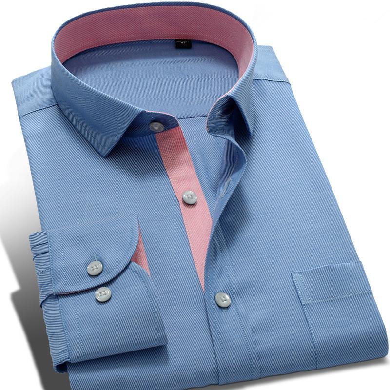 2016 New Spring Elegant Long Sleeve Men Desinger Shirts Slim fit Casual Dress Shirts Social Easy Care High Quality Mens Clothes(China (Mainland))