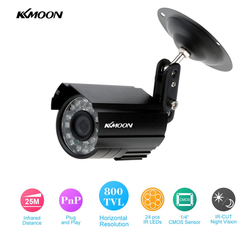 KKmoon Hot Sale HD 800TVL CCTV Camera Outdoor 24 IR-LEDS Home Security Camera Night Vision Waterproof Bullet Camera(China (Mainland))