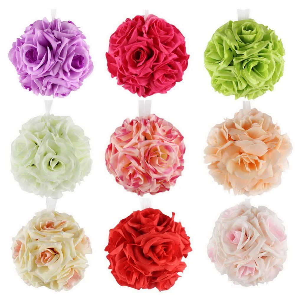Simulation Encryption Wedding Party Flower Ball Outdoor Decoration Hanging Artificial Rose Hot Selling Different Color(China (Mainland))
