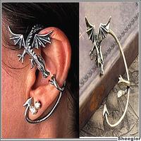 Gothic Vintage Rock Dragon Ear clips for women Punk ear cuff earrings earcuff clips on earrings Jewelry