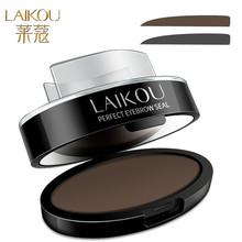 1Set Eyebrow Powder Makup Stamper Seal Eyebrow Pencil Eyebrow Powder Steal Easy To Makeup Eyebrow Brush Lazy Cosmetic Tool(China (Mainland))