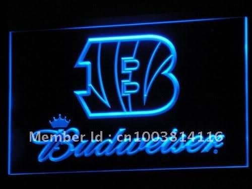 b272-b Cincinnati Bengals Budweiser LED Neon Light Sign Wholesale Dropshipping(China (Mainland))