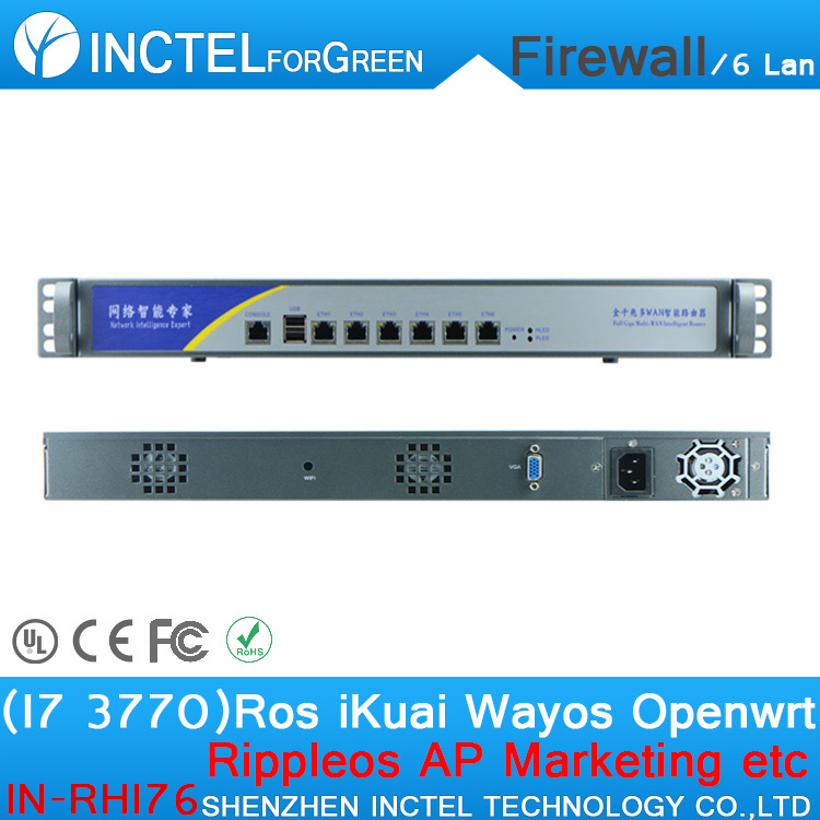 Customized Internet router manufacturers ROS 6 Gigabit flow control firewall appliance with I7 3770 processor H61 Express chip(China (Mainland))