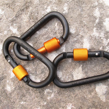 1pcs Camping Equipment Master Lock D Buckle Climbing Lock Carabiner Rock Climbing Buckle Equipment Travel Accessories(China (Mainland))