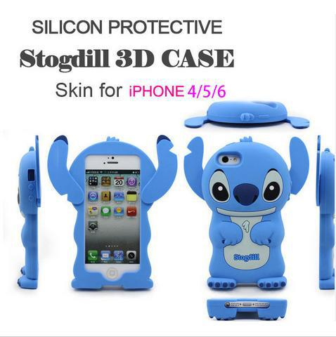 Hot Fashion 3D cute stitch cartoon smart phone case for iphone 5 5s TPU cell phone case silicone free shipping(China (Mainland))