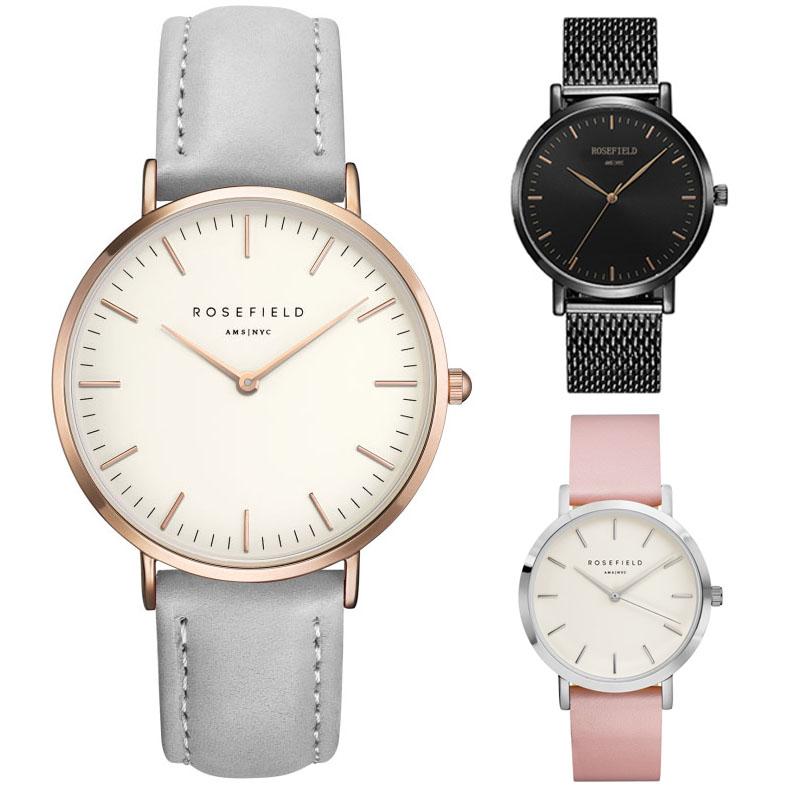 ROSEFIELD Watch Fashion Watch Women PU leather strap Quartz Watch relogio feminino Brand women dress watch clock(China (Mainland))