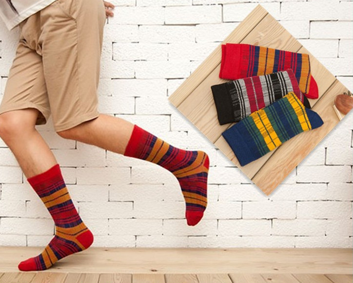 3 pairs/lot socks men cotton stripes baseball football sports socks Colorful happy socks men/women Series meias masculinas(China (Mainland))