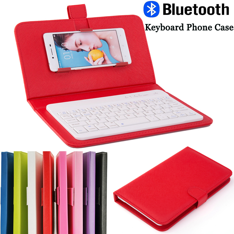 Smartphone Mini Wireless Bluetooth Keyboard Case Cover For iPhone Universal Android Mobile Phone Leather Protective Cases Covers(China (Mainland))