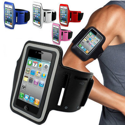 Waterproof Sports Arm band Case for iPhone 4 4S 4G Gym Running Arm Bands Arm Strap Flexible Adjustable Tune Belt Drop Ship !(China (Mainland))