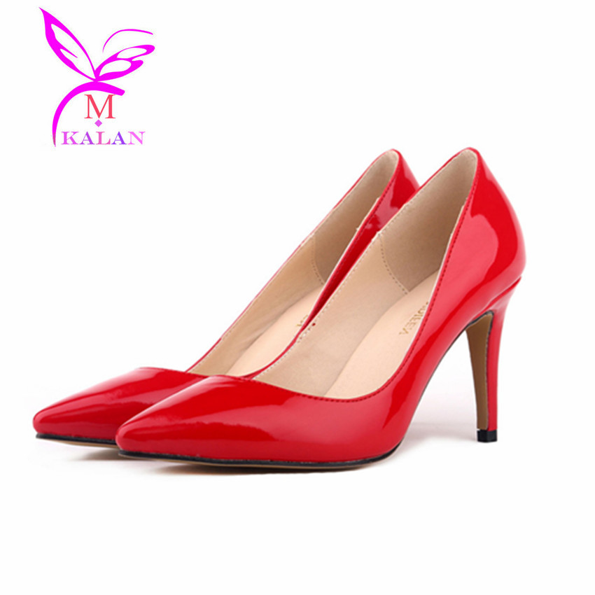15 colors big size pumps pointed toe high heels
